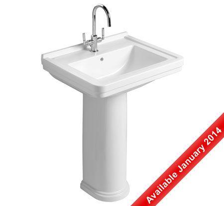 Noble basin with pedestal - www.bathroomwarehouse.com.au