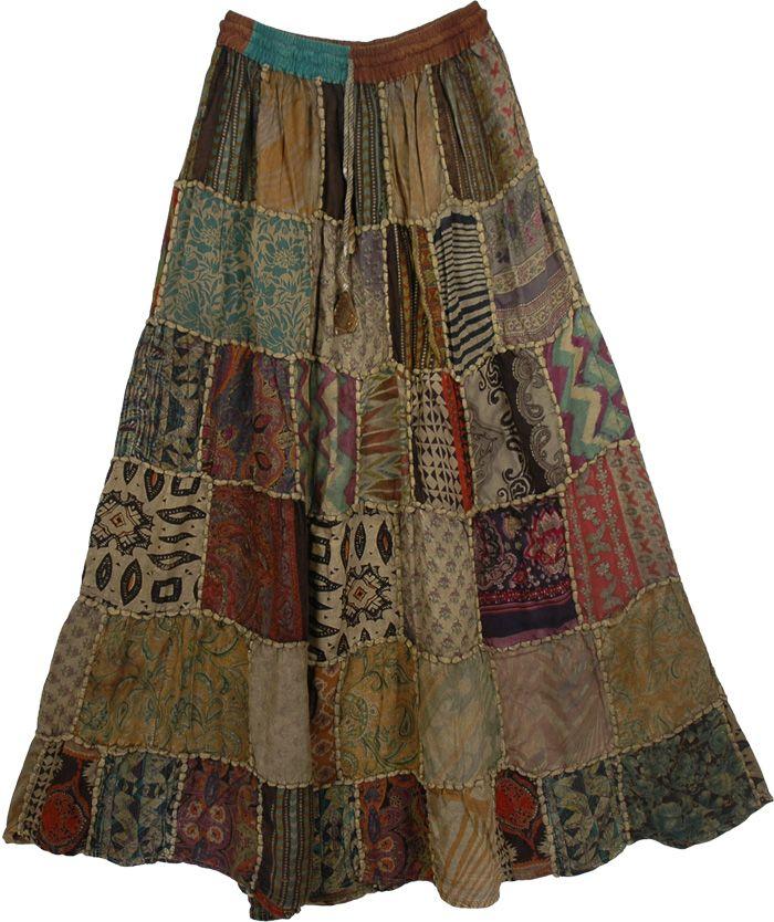 Gypsy Panel Boho Skirt - http://www.thelittlebazaar.com/item/3239/