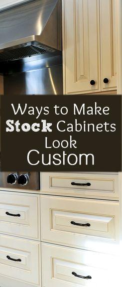 Ways to Make Stock Cabinets Look Custom! Love this idea!