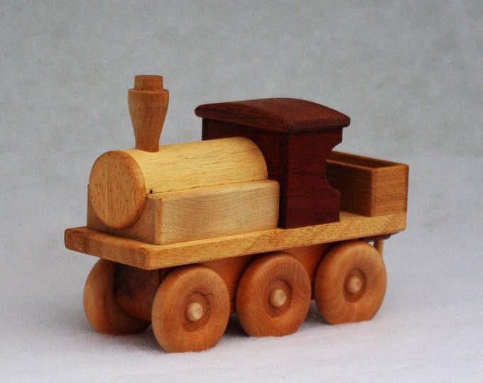 Personalised Wooden Toy Traditional Steam Train Model Car Vehicle Registration Plate