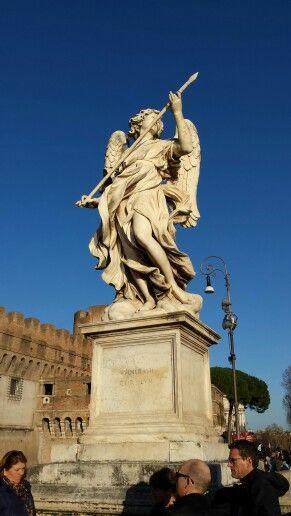 Roma, ponte Castel S. Angelo, particolare.