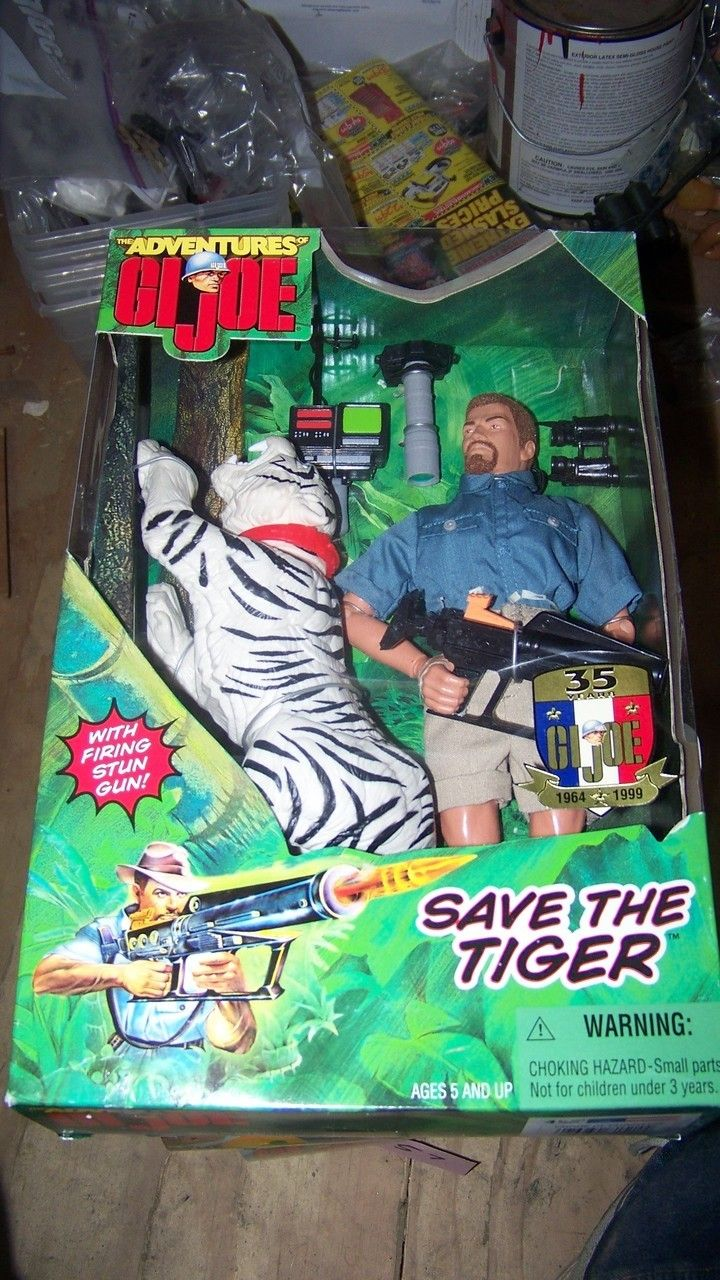 The Adventures of G.I.Joe Save the Tiger 12 Inch Action Figure Adventure Set NRFB