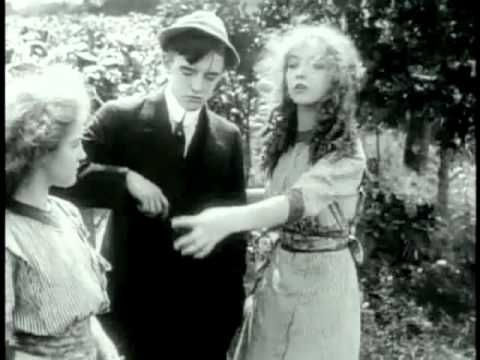 1st Gish sisters (Lillian & Dorothy) movie appearance - An Unseen Enemy (1912) - D. W. Griffith