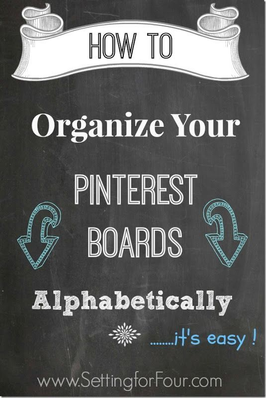 How to Organize Your Pinterst Boards Alphabetically Tips - It's Easy!