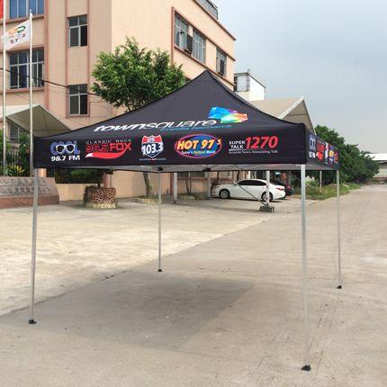 10x10ft Standard Aluminum Black Pop Up Advertising Display Tent