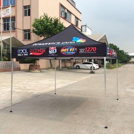 10x10ft Standard Aluminum Black Pop Up Advertising Display Tent