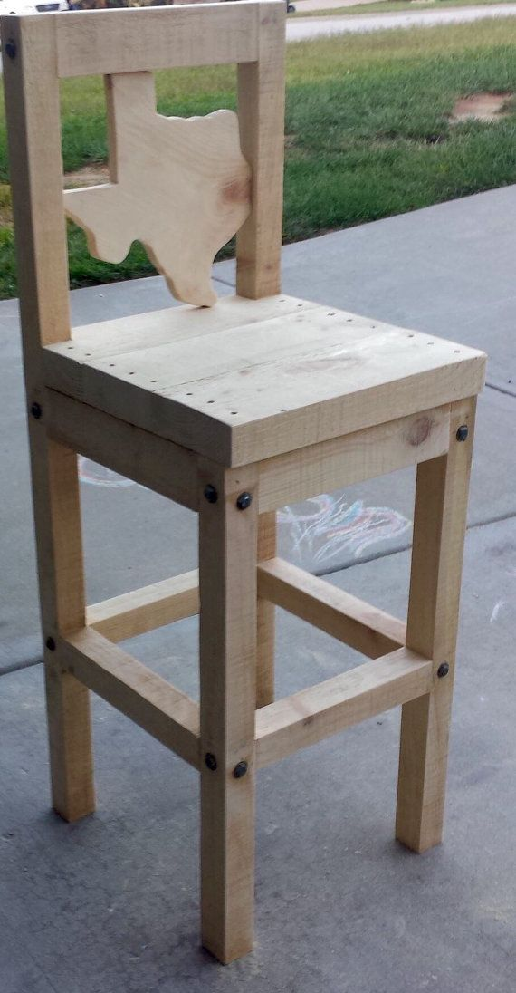 Rustic Texas barstool or chair by OzarkMountainRustics on Etsy