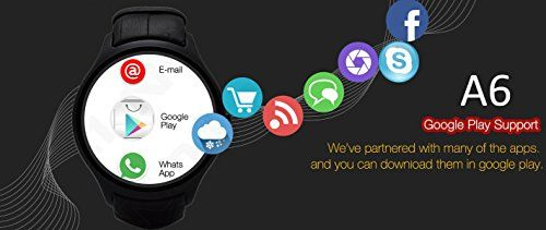 Indigi NEW Stylish Wrist Watch 3G SmartPhone Android 4.4 Touch Screen WiFi GPS Unlocked Smart Watches Unlocked Smartphone   Android Smart Phone Watch featuring a 1.54 Inch Touch Screen Display that even has a Camera plus it can deliver a great performance due to having a Dual Cor