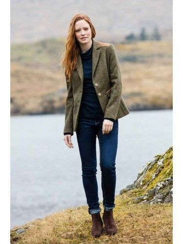 Shop Dubarry women's linen & tweed blazers