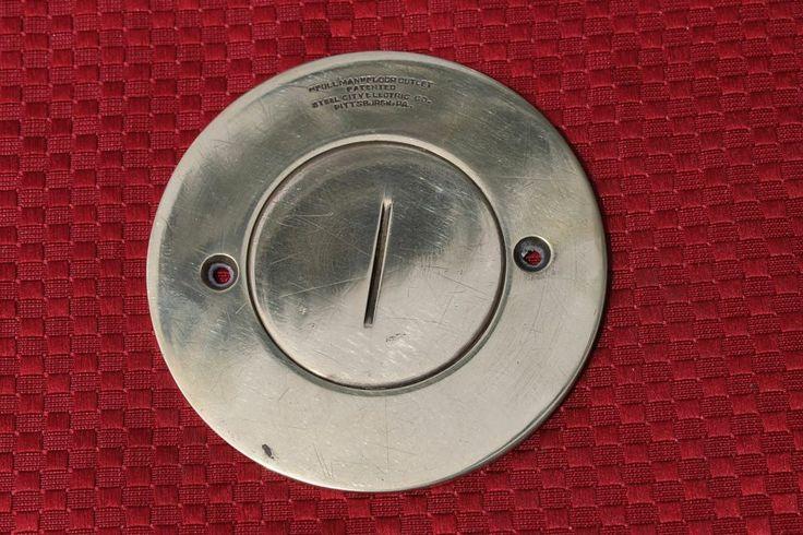 "vintage #brass #round #floor #outlet #cover - 3 1/2"" diameter"