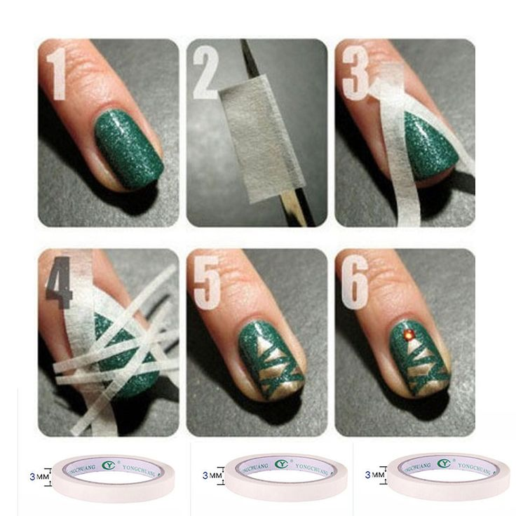 1Pcs Nail Art Gel Polish Adhesive Tape For DIY Nail Beauty Decorations Stickers Nail Tool 1 2 3mm Width