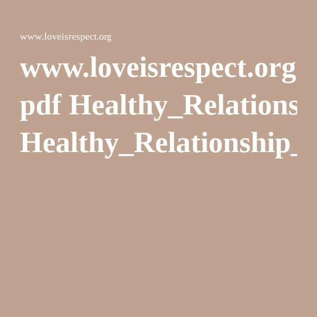 Love is respect quiz