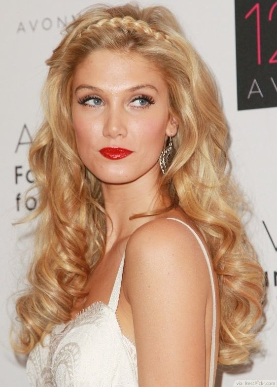 Long Voluminous Hair With A Headband Braid ❥❥❥ http://bestpickr.com/prom-hairstyles-for-long-hair