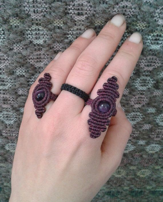 Crown chakra Macrame ring/Sahasrara/chic and elegant by lulupica