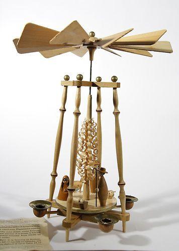 German Nativity Candle Pyramid