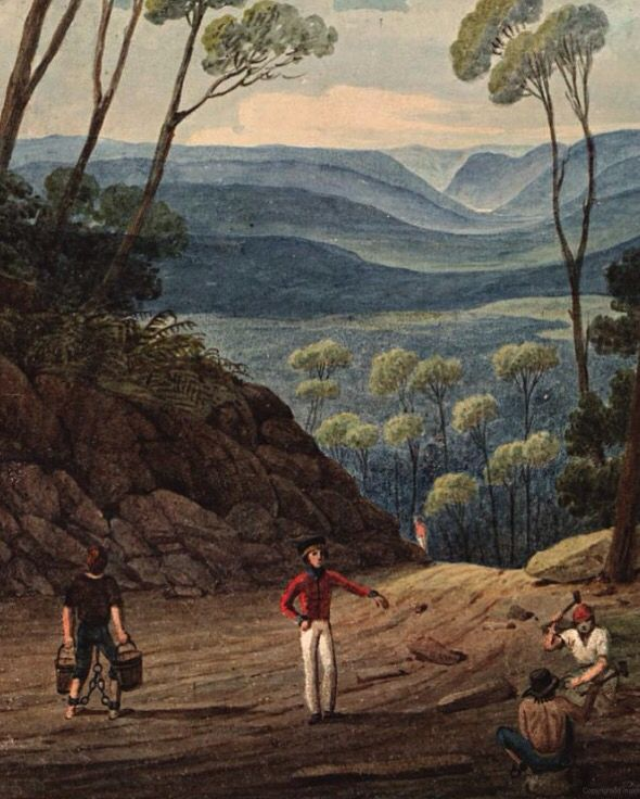 First impressions of a new land by First Fleet artist George Raper, who arrived on HMS Sirius, the flagship of the First Fleet, at Port Jackson, Australia in January 1788