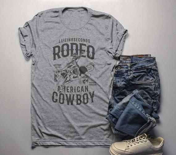 8119dc7ed Men's Rodeo T Shirt American Cowboy Shirts Western Graphic Tee Southern  Trad - Horse Tee Shirts - Fashionable Horse Tee Shirts for sales  #horseteeshirts ...