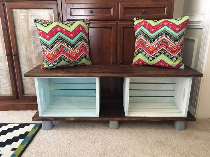 25 best ideas about crate tv stand on pinterest tv for Wood crate bench