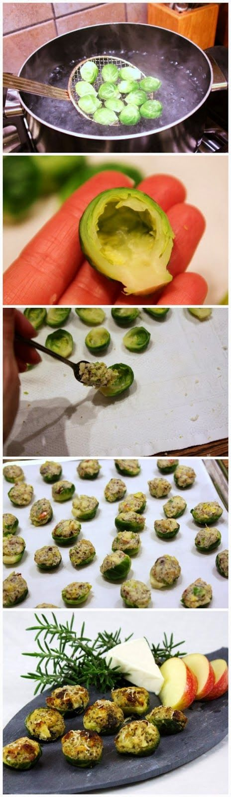Apple and Bacon Stuffed Brussels Sprouts | Food Blog
