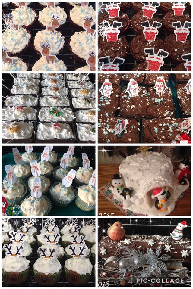 Jane's beautiful Christmas bakes, all made with our Toffee, Orange