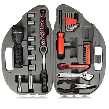 36-Piece Car Shaped Tool Kit designed with features like flashlight, pliers, screwdrivers, stainless steel wrenches, car shaped case, drive sockets, allen wrenches and uses such as emergency repairing. More Info: http://avonpromo.com/piece-shaped-tool-p-8544.html