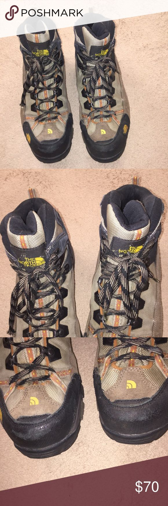 THE NORTH FACE GORE TEX MEN'S BOOTS.  SIZE 10 BOOTS SHOW SIGNS OF WEAR.  SCRAPES AND CREASES.  PLEASE READ MY LISTING AND VIEW MY PICTURES.  Best offer The North Face Shoes Rain & Snow Boots