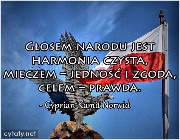 Głosem narodu jest harmonia czysta #Norwid-Cyprian-Kamil,  #Państwo-i-naród, #Patriotyzm-i-ojczyzna