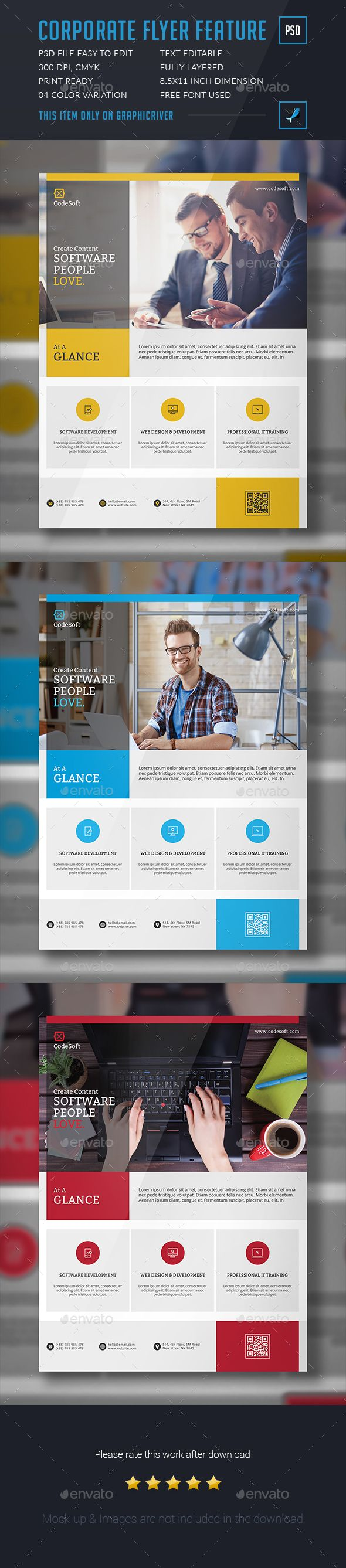Corporate Flyer Template PSD. Download here: graphicriver.net/...