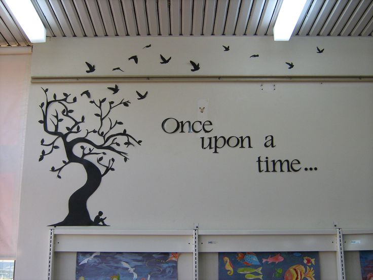 childrens library decorations | The idea of growing is continued with the permanent images of a child ...