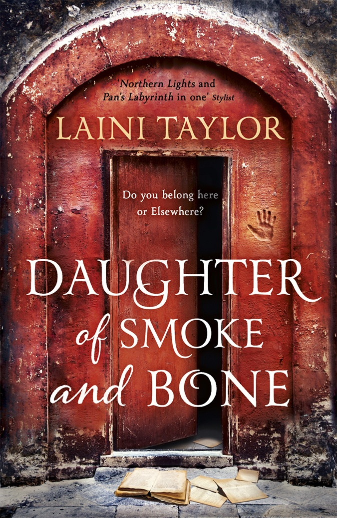 beautiful new UK paperback cover for one of my favorite books- Daughter of Smoke and Bone. If you haven't read this move it to the top of your list!