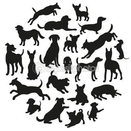 Ms de 25 ideas increbles sobre Silueta de perro en Pinterest