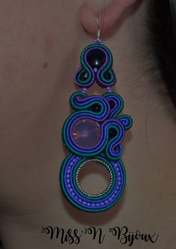 1ded8f589b09 Large soutache earrings