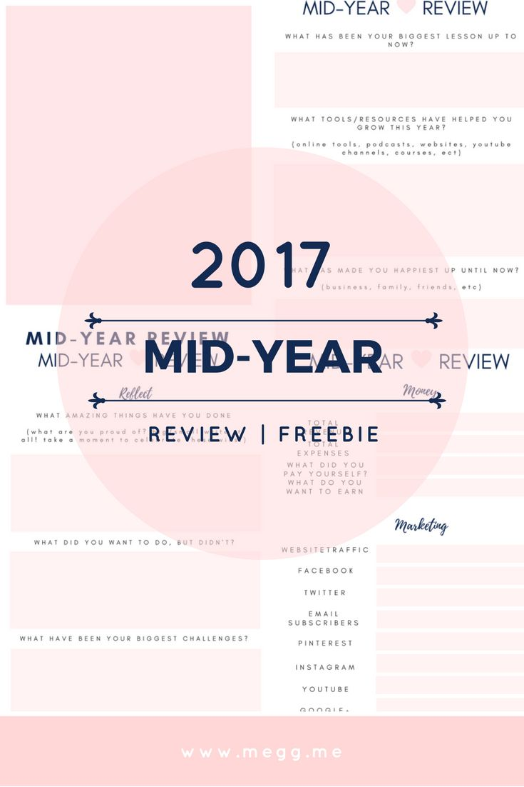 The middle of the year is the perfect time to take a look at what you have achieved and then to refocus yourself. I am sharing this free mid-year review printable worksheet so that you can review your year too. https://megg.me/freebies/mid-year-review-free-worksheet/