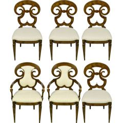 Six  William Doezema Biedermeier Dining Chairs For Mastercraft: Biedermeier Chairs, Antique Chairs, 1960S, Dining Chairs, 1960 S Chairs, Chairs Painted Furniture, Designing Chairs, Art Chairs, Dining Room Chairs