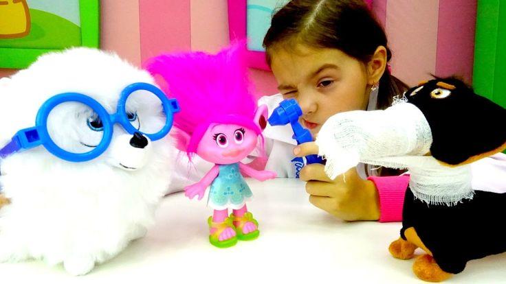 Видео с игрушками. Игра больница для героев Тайная жизнь животных. Докто...