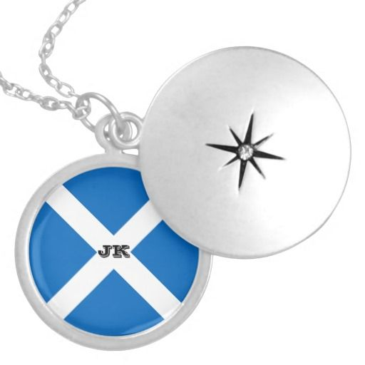 Scotland flag necklace