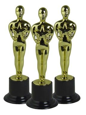 "Private Island Party - Movie Award Trophy 9001, We'd like to thank the academy for the ability to honor you! Great for carnivals, youth sporting events, or red carpet parties our awards trophy measures approximately 6""x3"". Each sold separately. Recommended for ages 5 and up."