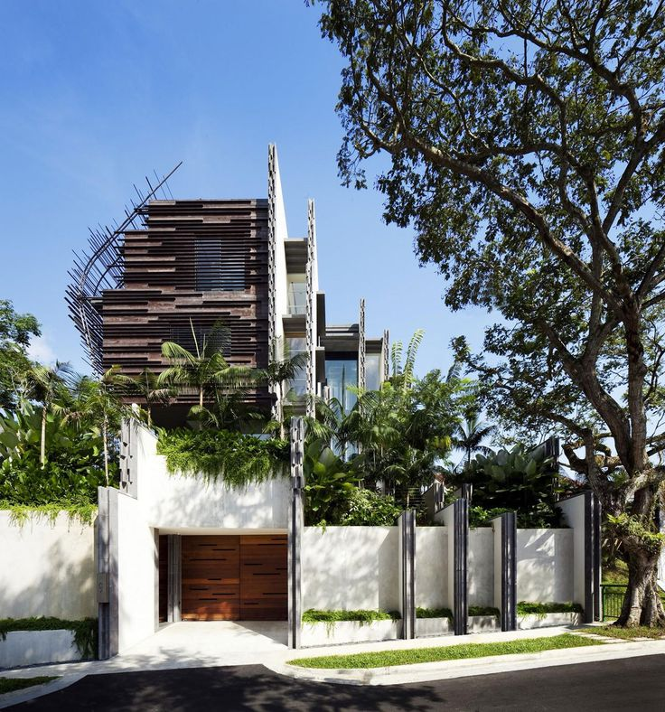 Nest House, located in Jalan Sejarah, Singapore, was designed by WOHA Architects. The home possesses a unique design that makes it very striking, though it still retains the more traditional elements that make a private residence feel cozy and welcoming.