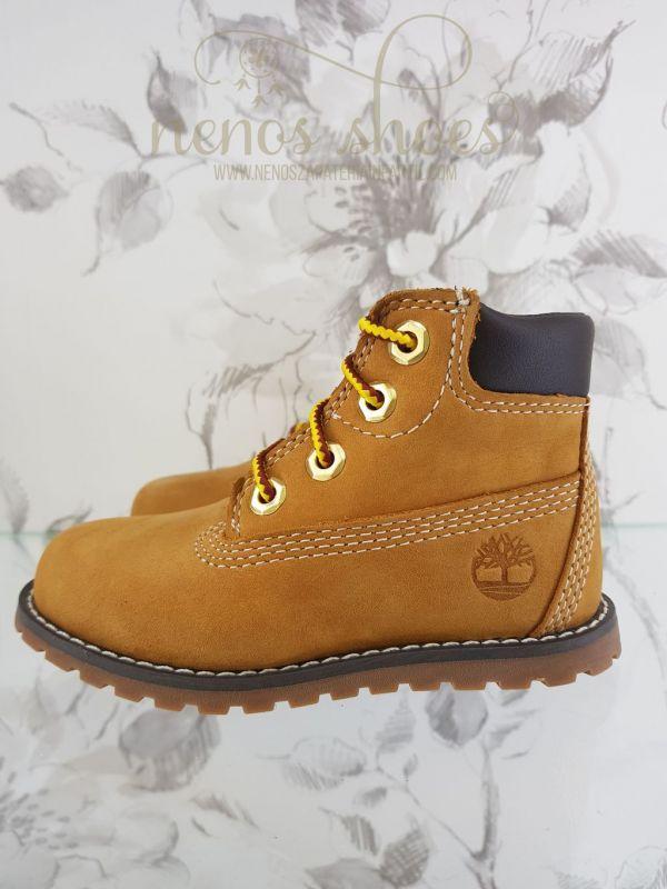 bf7fd130 Todo preparado para el cole con las botas de Timberland para niños,en color  mostaza