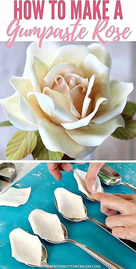 Wie man eine große Gumpaste Rose macht Kochen und Backen # ...