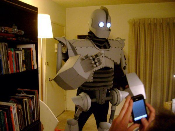 The Iron Giant. Not sure if it's cosplay, but I had to share it...