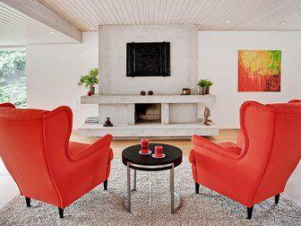 Bilder, Vardagsrum, rött, Fåtölj - Hemnet Inspiration