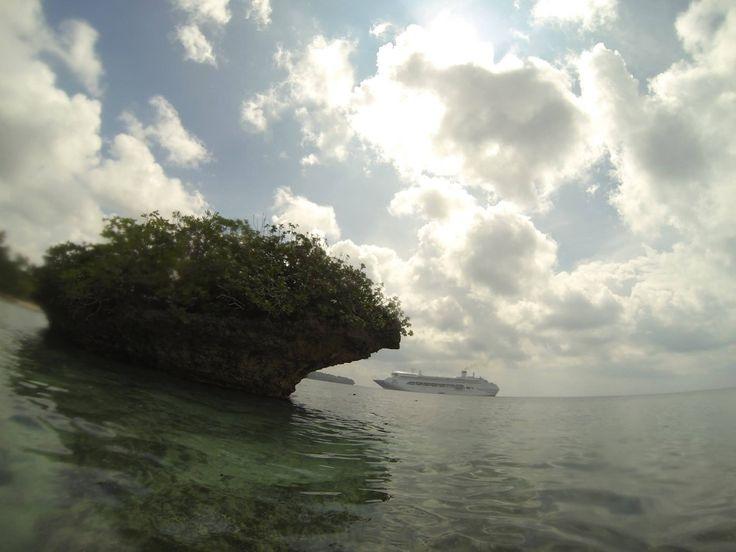 Cruise ship Kiriwina island