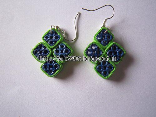Handmade Jewelry - Paper Quilling Diamond Shape Earrings (1)