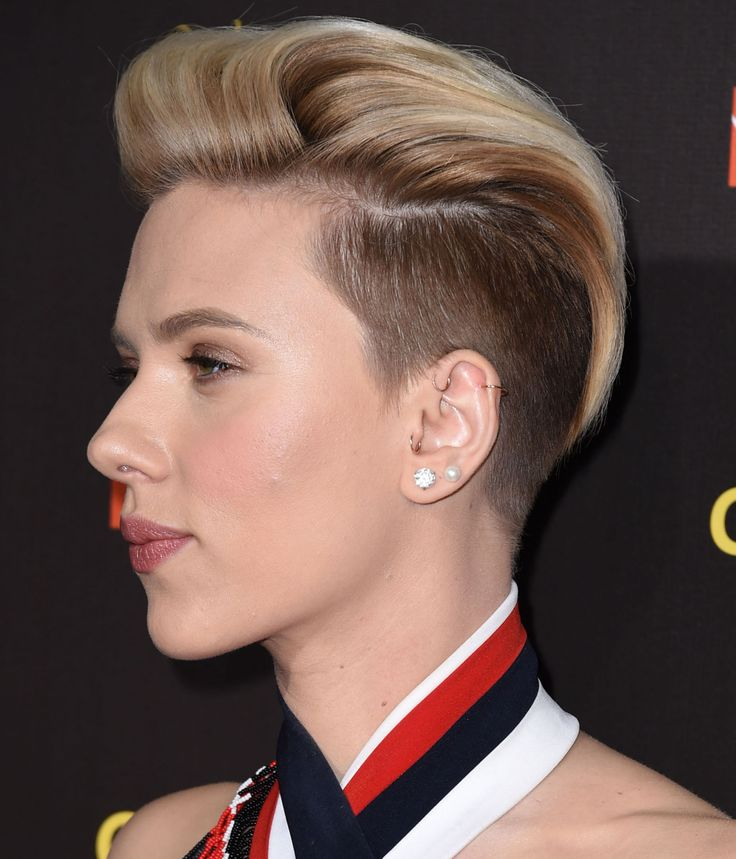 Scarlett Johansson's undercut is all kinds of gorgeous.