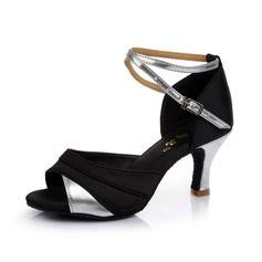 Chaussures de danse - $17.99 - Femmes Satiné Similicuir Talons Sandales Latin avec Lanière de cheville Chaussures de danse  http://www.dressfirst.com/fr/Femmes-Satine-Similicuir-Talons-Sandales-Latin-Avec-Laniere-De-Cheville-Chaussures-De-Danse-053053111-g53111