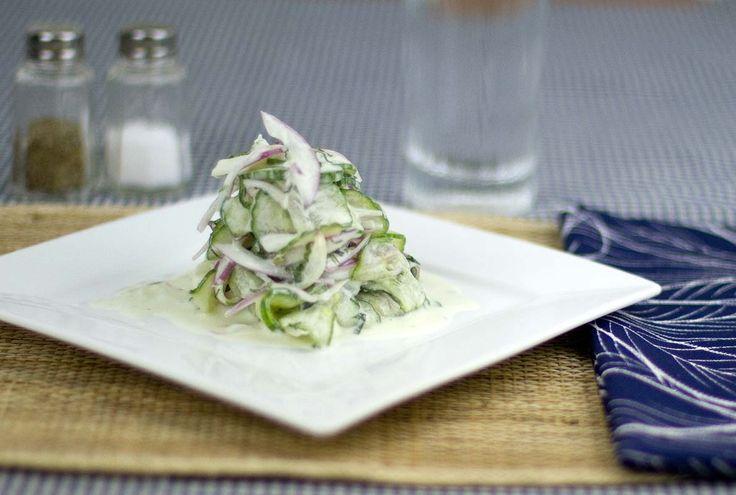 Cucumber-Mint Salad / @DJ Foodie / DJFoodie.com