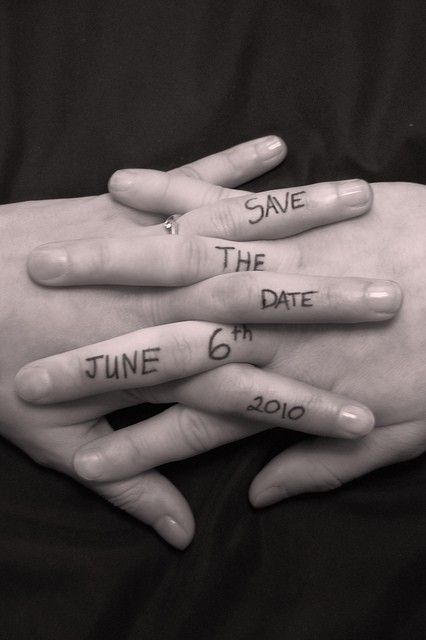 Save the date idea-love it-add a guitar pick. oops…