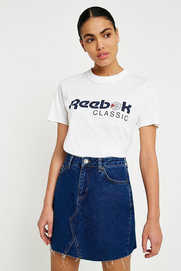Reebok Classic White Logo T-Shirt