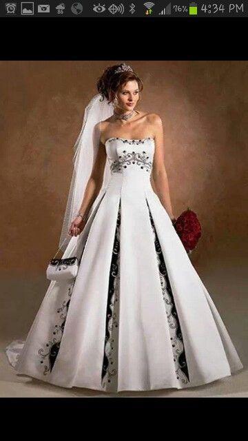 Black And White Wedding Vestidos De Novia De Color